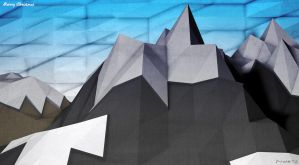 Low Poly Mountains. by pyxArtz