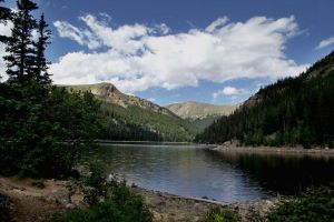 serial-lake in the mountains of Colorado 1 by sonafoitova