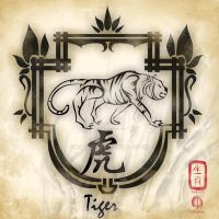 Chinese Zodiac : Tiger by MPtribe