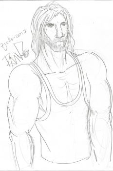 OC Male Muscle Hairy by RaavenousSoul
