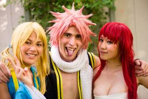Fairy Tail Cosplay - Natsu, Lucy, Erza by firecloak