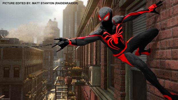 Spider-Man PS4 - Fan Poster (Miles Morales Suit) by RaidenRaider