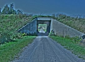 Perch River Dam Underpass, HDR by Lectrichead