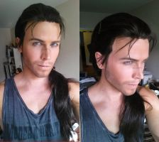 Yasuo - League of Legends - Wig and makeup test by Elffi