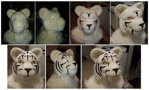 Fursuit mask process 2 by Merkindesr