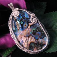 Sterling and Abalone Pendant by sylva