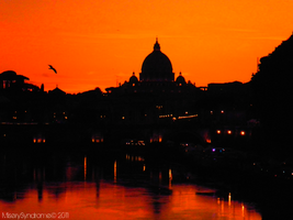 Sunset over Vatican by MiserySyndromex3