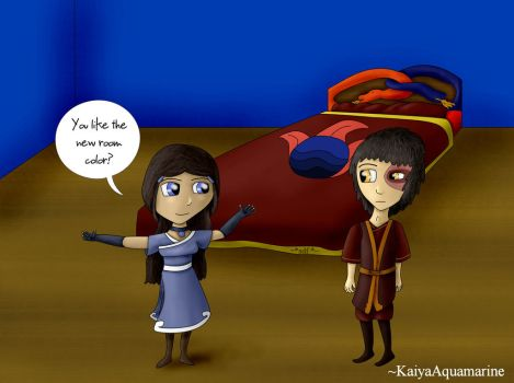 Zutara Week 2014 - Day Four - Cobalt Blue by KaiyaAquamarine