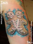 gingerbread siamese man by SimplyTattoo