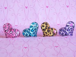 Big Leopard Heart with Bow by ImperfectKawaii