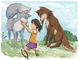 Fenrir Brothers find a Human by Joichiroll