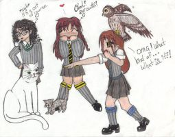 Hogwarts friends and our pets by Hogwarts-Castle