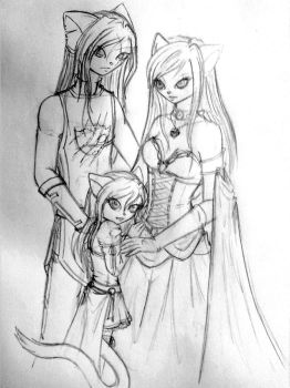 Sketchtime 36: Royal Family by ManaMagician