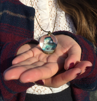 Beta Fish in Glass Globe necklace 2 by NoxidAssylem