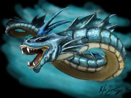 Gyarados - Pokemon Number 130 by Frabulator