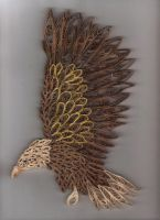 Quilled Eagle by LadyDracos