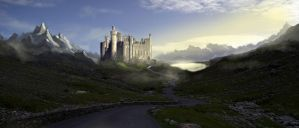 Highland Castle Mattepainting by dustycrosley