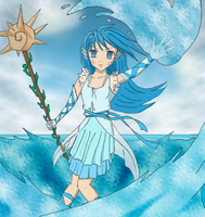 Water Sorceress by leara07