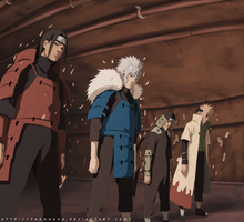 Naruto 618 Edo Hokages by themnaxs
