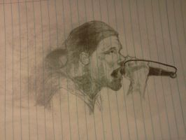 Brent Smith Notebook Sketch by WolfMarine