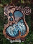 Bowl with Three Norns by Edita-Woodcarver