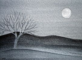 tree by moonlight by karincharlotte