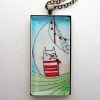 Yar Kitty Pirate Pendant by cellsdividing