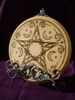 Altar Pentacle Tile by Ravens-nest-witchery