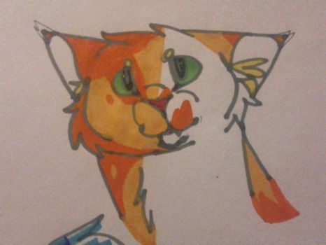 Cat Marker Drawing by TinyWindowless