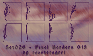 Set026 Pixel Borders 018 by wolfgrrlone