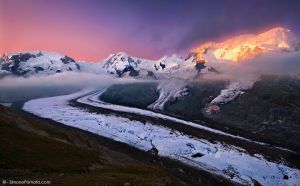 Glowing Glacier by SimonePomata