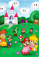 paper mario por fin coloreado by Goombarina