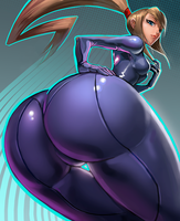 Samus Zero Suit by ecchiboy