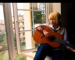 Len Kagamine cosplay 2 by aliceshadowknight