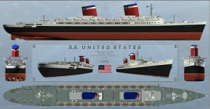 Ss United States detail sheet by carsdude