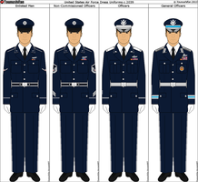 Panterria - United States Air Force Dress Uniforms by Tounushifan