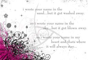 i wrote your name.. by RotaBaby