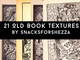 21 Old Book Textures by snacksforshezza
