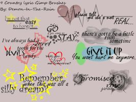 Country Lyric Gimp Brushes by Demon-in-the-rain