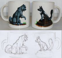 Myst and Etoh Cups by akelataka