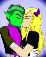 TT Beast Boy + Terra kiss by Homework-Ate-Me