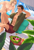 Turkey/France-beach**Yaoi by 01rosso