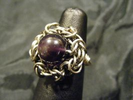 Amethyst Byzantine Ring by BacktoEarthCreations