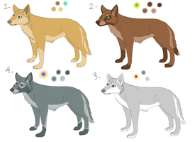 Wolf Adoptables - CLOSED - by Kenisya