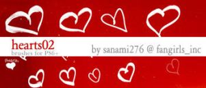 heart brushes 02 by Sanami276