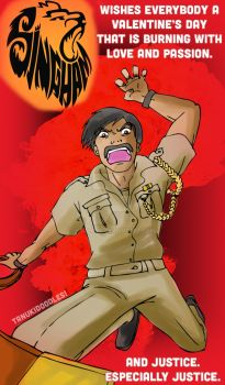Bajirao Singham and his Valentine's greetings by ksolaris