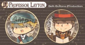 Professor Layton Button set by jinyjin