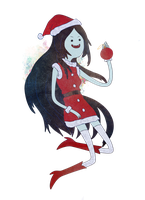 Marceline Christmas by Stilletta