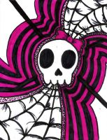 girly skull by disenchanted7