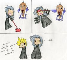 Xemnas fails at missions by Mushroom-Cookie